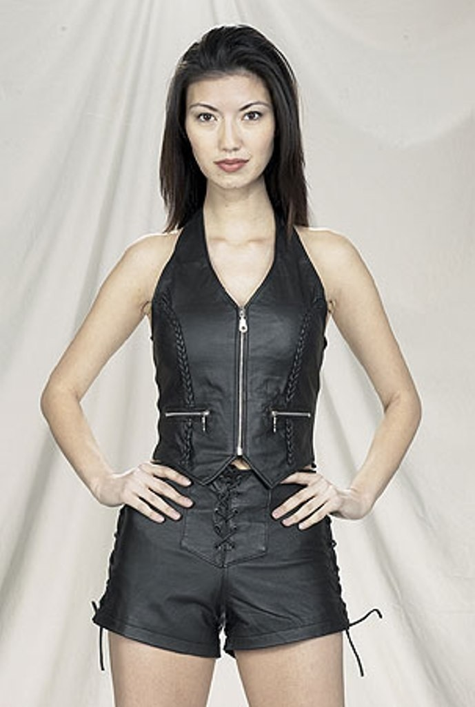 CW-254 LEATHER HALTER AND SHORT