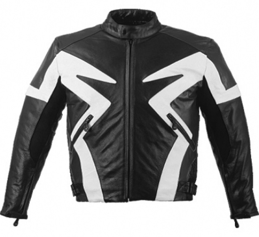 HMB-0401B GENUINE LEATHER JACKET MEN BIKER JACKETS ZIPOUT LINING