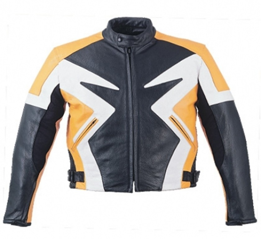 HMB-0401F GENUINE LEATHER JACKET MEN BIKER JACKETS ZIPOUT LINING