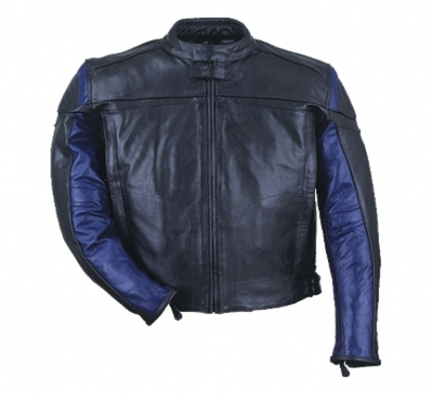 HMB-0402B GENUINE LEATHER JACKET MEN BIKER JACKETS ZIPOUT LINING