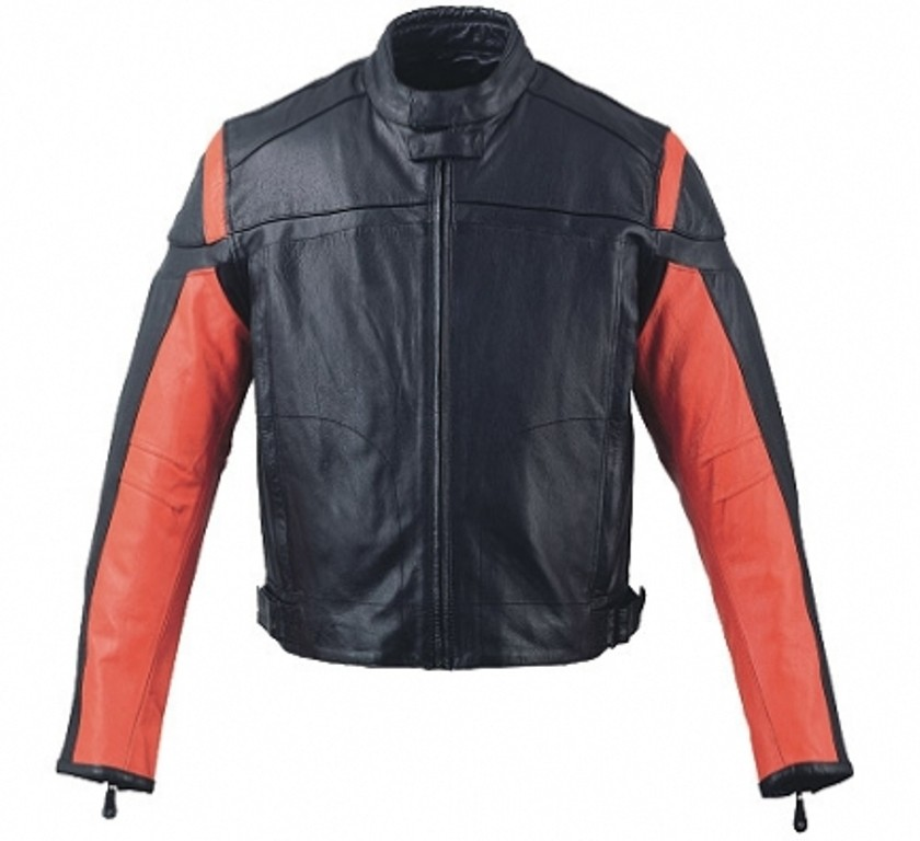 HMB-0402C GENUINE LEATHER JACKET MEN BIKER JACKETS ZIPOUT LINING