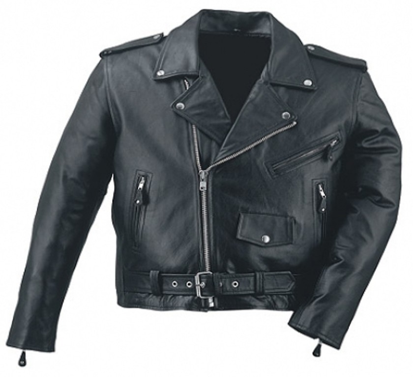 HMB-0414A GENUINE LEATHER JACKET MEN BIKER JACKETS ZIPOUT LINING