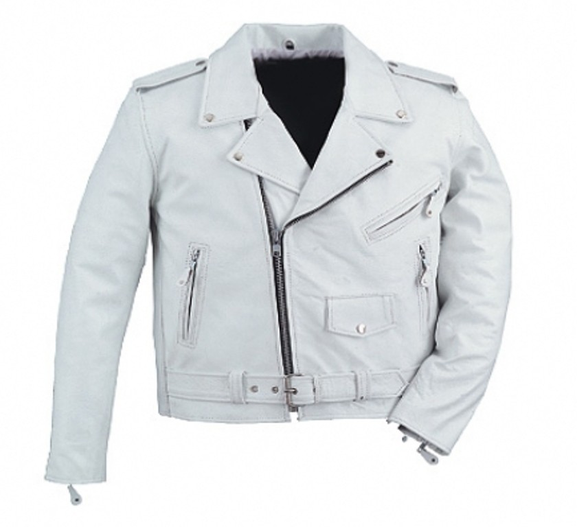 HMB-0414C GENUINE LEATHER JACKET MEN BIKER JACKETS ZIPOUT LINING