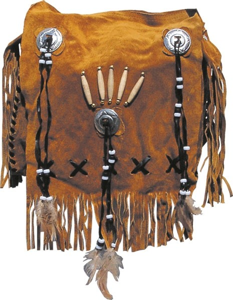 HMB-2001A FREE SHIPPING LEATHER BAG FRINGES SHOULDER KANCHO AND BRAIDS STYLE