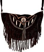HMB-2001B FREE SHIPPING LEATHER BAG FRINGES SHOULDER KANCHO AND BRAIDS STYLE