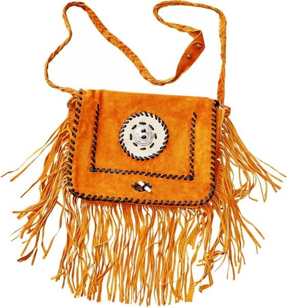 HMB-2001D FREE SHIPPING LEATHER BAG FRINGES SHOULDER KANCHO AND BRAIDS STYLE