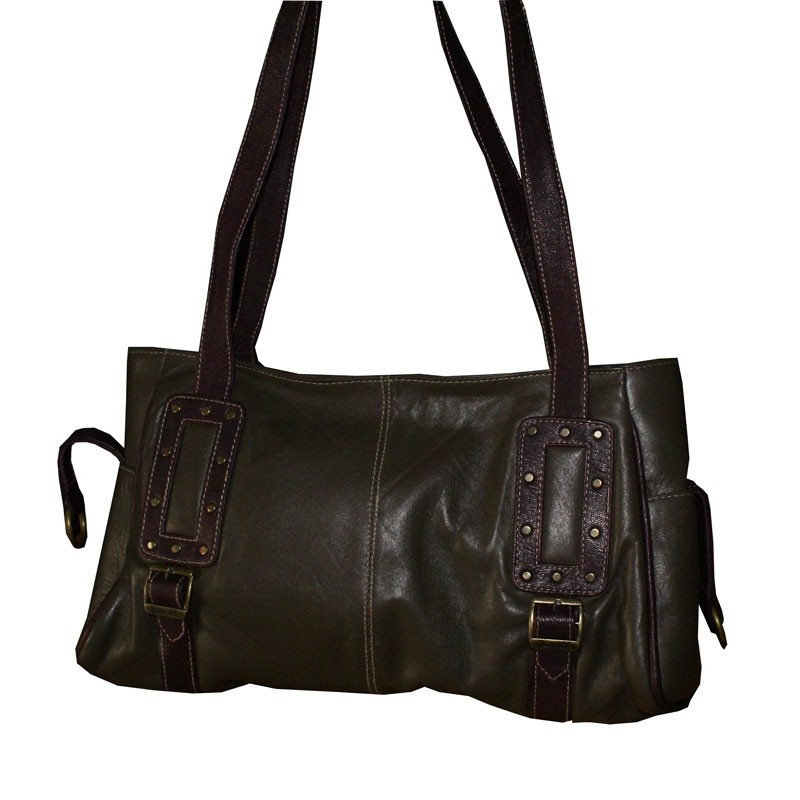 HMB-2006A FREE SHIPPING LEATHER SHOULDER BAG