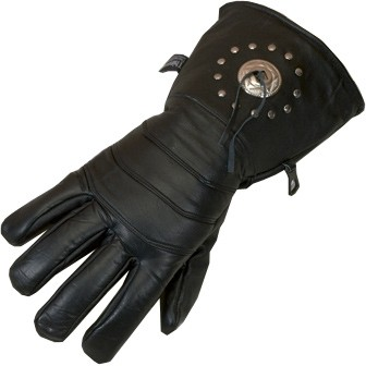 HMB-2023A LEATHER BIKER GLOVES RIDER CHOICE FULL FINGER