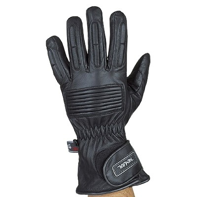 HMB-2028A LEATHER BIKER GLOVES RIDER CHOICE FULL FINGER