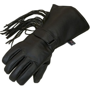 HMB-2034A LEATHER BIKER GLOVES RIDER CHOICE FULL FINGER