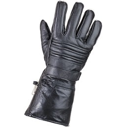 HMB-2037A LEATHER BIKER GLOVES RIDER CHOICE FULL FINGER