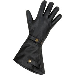 HMB-2038A LEATHER BIKER GLOVES RIDER CHOICE FULL FINGER