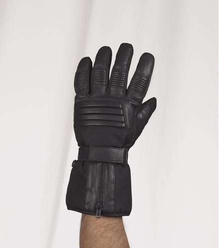 HMB-2040A LEATHER BIKER GLOVES RIDER CHOICE FULL FINGER