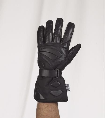 HMB-2041A LEATHER BIKER GLOVES RIDER CHOICE FULL FINGER