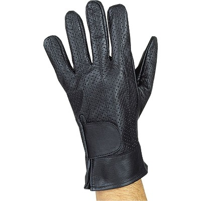HMB-2090A LEATHER BIKER GLOVES RIDER CHOICE FULL FINGER