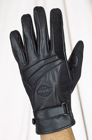 HMB-2094A LEATHER BIKER GLOVES RIDER CHOICE FULL FINGER