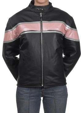 HMB-0238A GENUINE LEATHER JACKET LADIES BIKER JACKETS ZIPOUT LINING