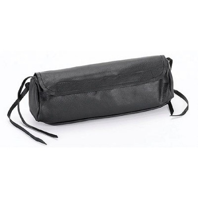 HMB-3019A LEATHER MOTORCYCLE TOOLS FORK BAG BIKER TOOLBAG SOFT ROUND STYLE