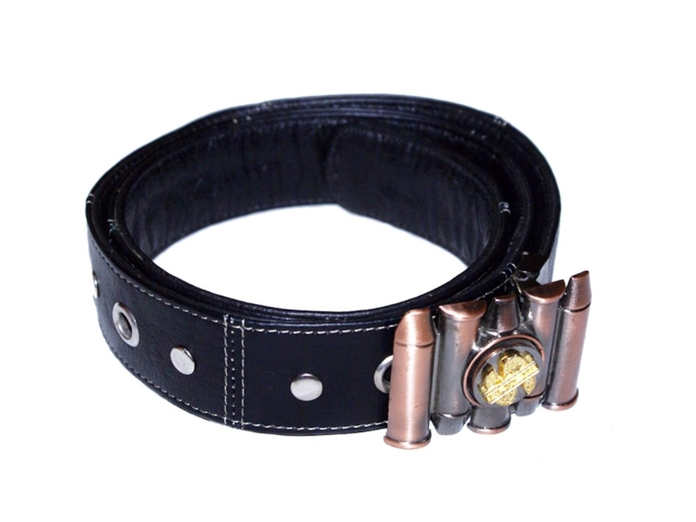 HMB-3932E LEATHER PANTS BELT BRAID STYLE WITH  BUCKLE FIX