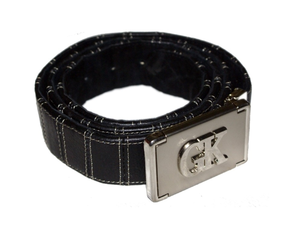 HMB-3932F LEATHER PANTS BELT BRAID STYLE WITH  BUCKLE FIX