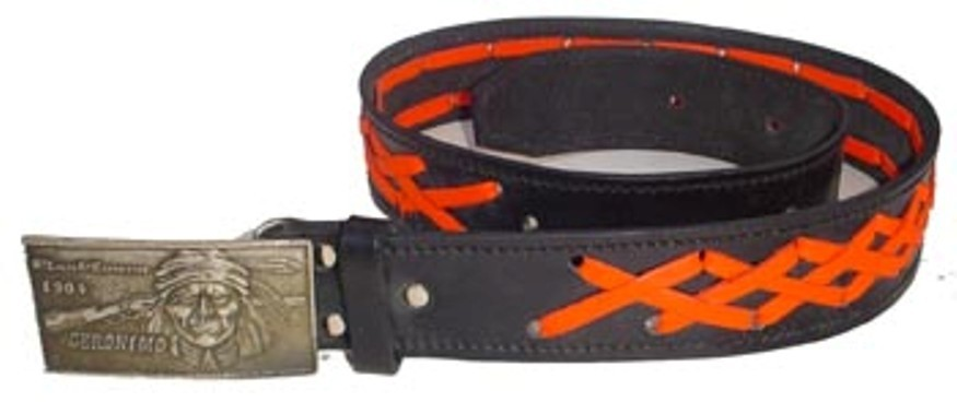 HMB-3940A LEATHER PANTS BELT BRADS STYLE WITH  BUCKL