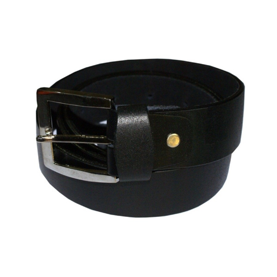 HMB-3942A LEATHER PANTS BELT PLAIN STYLE WITH  BUCKL