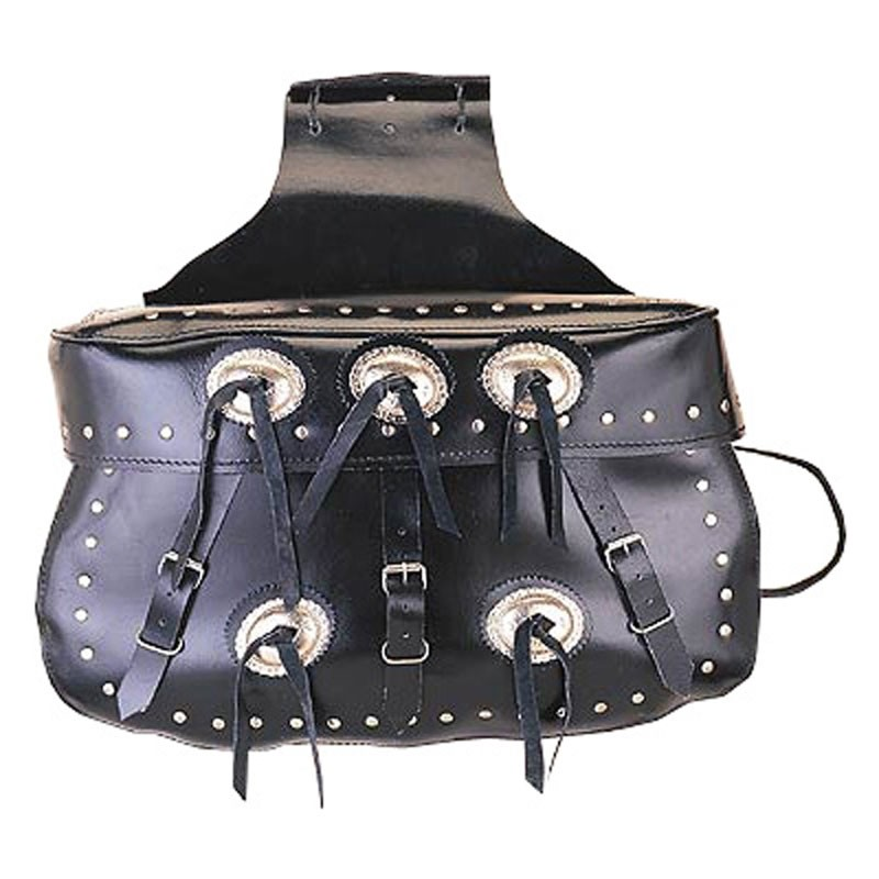 HMB-4000A FREE SHIPPING LEATHER MOTORCYCLE SADDLE BAG KANCHO AND STUDS STYLE