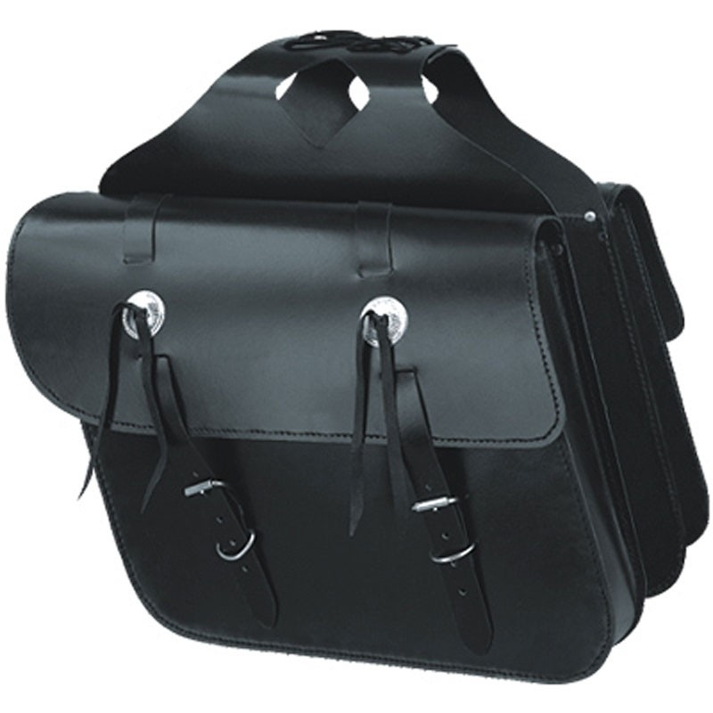 HMB-4008D FREE SHIPPING LEATHER MOTORCYCLE SADDLE BAG KANCHO STYLE