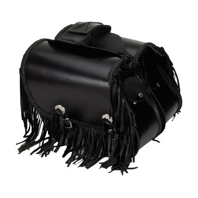 HMB-4038A FREE SHIPPING LEATHER MOTORCYCLE SADDLE BAG FRINGES AND KANCHO STYLE