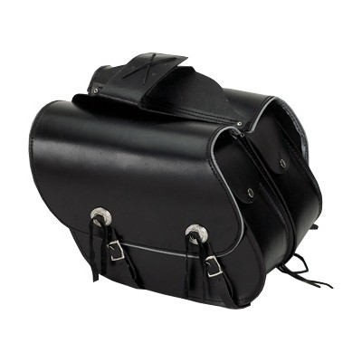 HMB-4039A FREE SHIPPING LEATHER MOTORCYCLE SADDLE BAG KANCHO STYLE