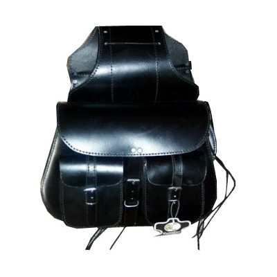 HMB-4040A FREE SHIPPING LEATHER MOTORCYCLE SADDLE BAG