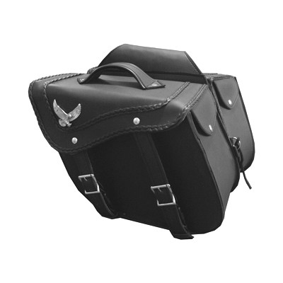 HMB-4044C FREE SHIPPING LEATHER MOTORCYCLE SADDLE BAGS LUGGAGE BIKER SADDLEBAG THROWOVER