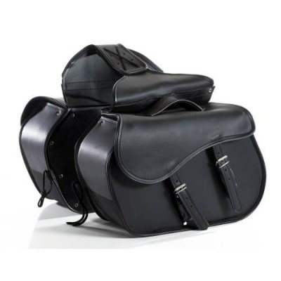 HMB-4047A FREE SHIPPING LEATHER MOTORCYCLE SADDLE BAG