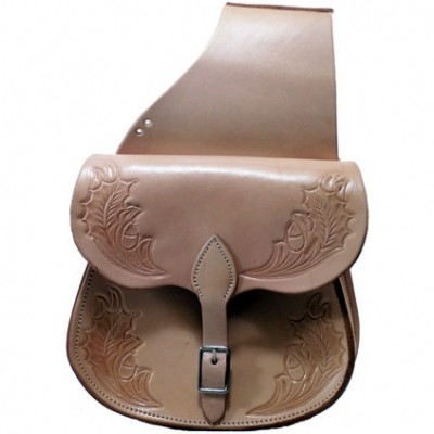 HMB-4066A FREE SHIPPING LEATHER MOTORCYCLE SADDLE BAG