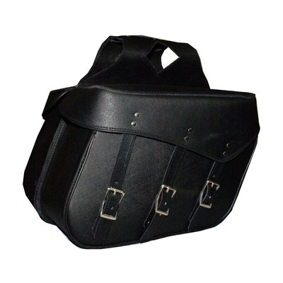 HMB-4091A FREE SHIPPING LEATHER MOTORCYCLE SADDLE BAG