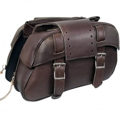 HMB-4094A FREE SHIPPING LEATHER MOTORCYCLE SADDLE BAG