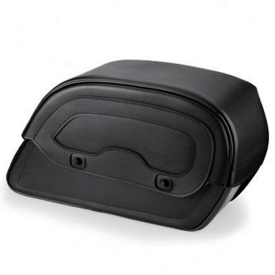 HMB-4101A FREE SHIPPING LEATHER MOTORCYCLE SADDLE BAG