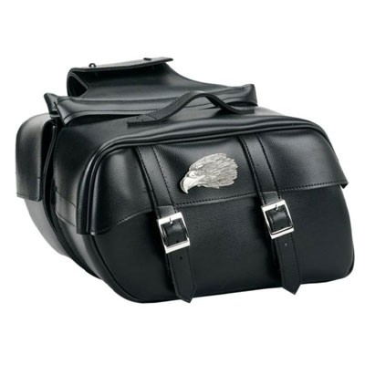 HMB-4145A FREE SHIPPING LEATHER MOTORCYCLE SADDLE BAG EAGLE STYLE