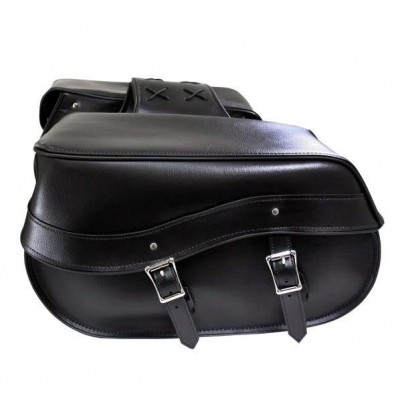 HMB-4147A FREE SHIPPING LEATHER MOTORCYCLE SADDLE BAG