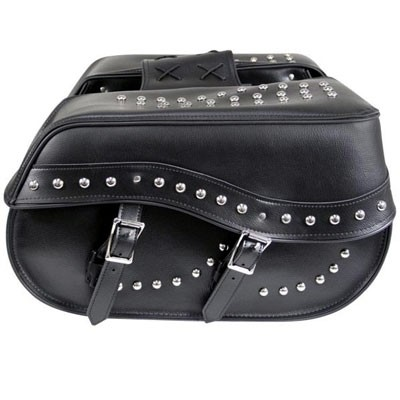 HMB-4160A FREE SHIPPING LEATHER MOTORCYCLE SADDLE BAG