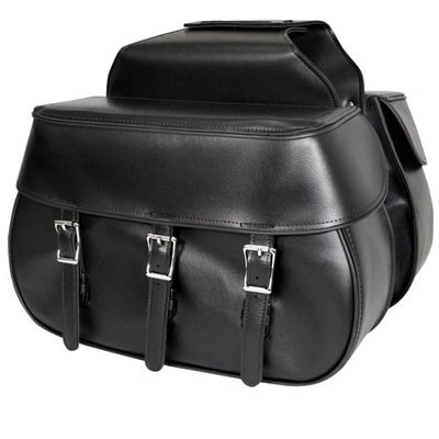 HMB-4155A FREE SHIPPING LEATHER MOTORCYCLE SADDLE BAG