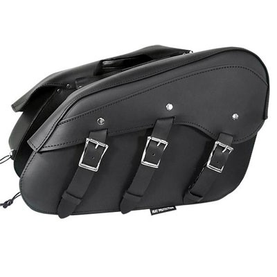 HMB-4165A FREE SHIPPING LEATHER MOTORCYCLE SADDLE BAG EAGLE AND STUDS STYLE