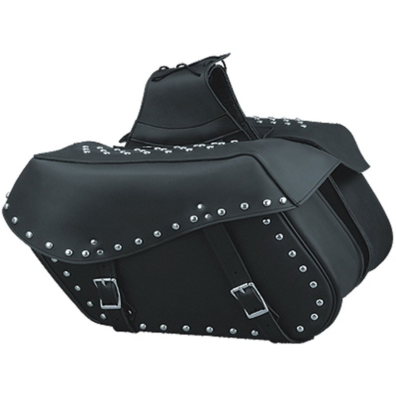 HMB-4170A FREE SHIPPING LEATHER MOTORCYCLE SADDLE BAG STUDS STYLE
