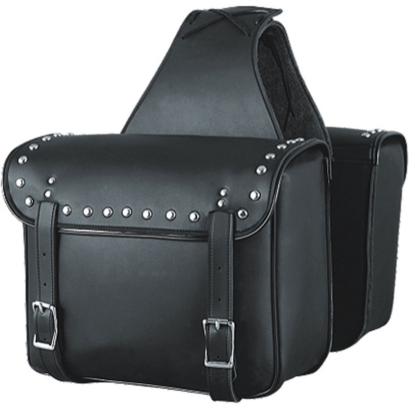 HMB-4177A FREE SHIPPING LEATHER MOTORCYCLE SADDLE BAG STUDS STYLE