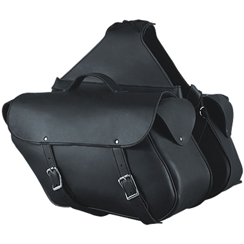 HMB-4196B FREE SHIPPING LEATHER MOTORCYCLE SADDLE BAG