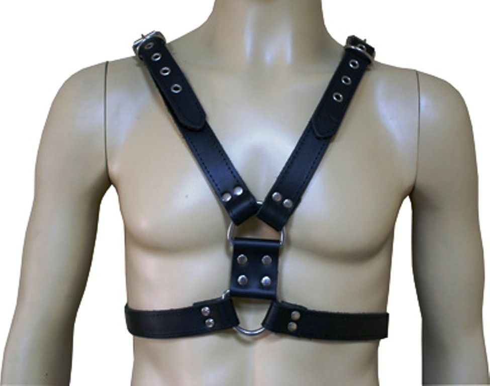 HMB-428A LEATHER CHEST HARNESS