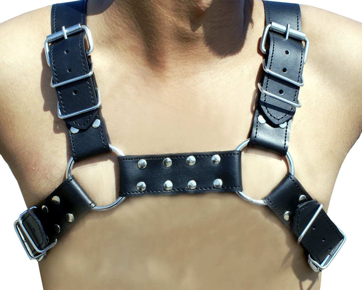 HMB-428H LEATHER CHEST HARNESS