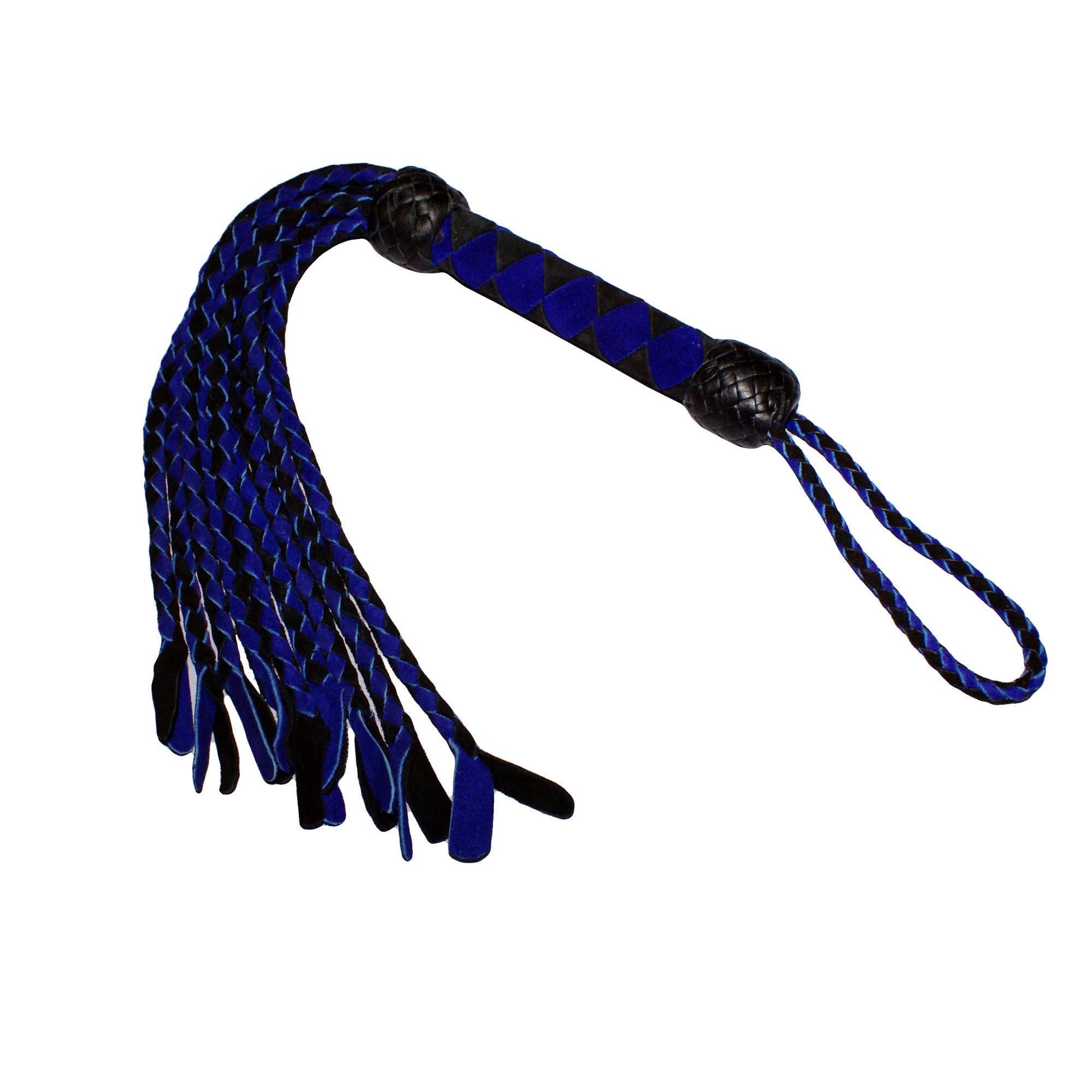 HMB-526A LEATHER FLOGGER BULLWHIP MINI BONDAGE WHIPS BDSM SPANKING BRAIDS GRIP