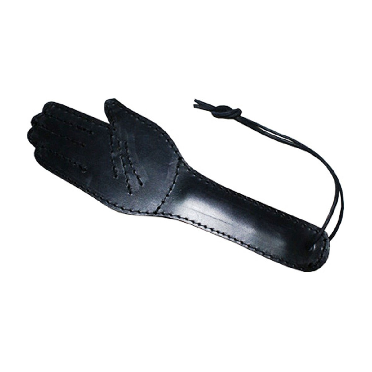 HMB-601A FREE SHIPPING LEATHER PADDLE COSTUME TRAINING HORSE WHIP BLACK COLOR