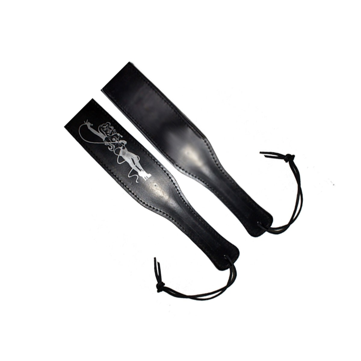 HMB-602B FREE SHIPPING LEATHER PADDLE BULLWHIP BLACK BDSM WHIP STYLE SPANKS